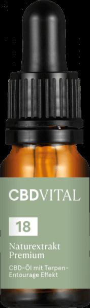 CBD-Vital CBD-Öl Naturextrakt PREMIUM 18 % (10 ml)
