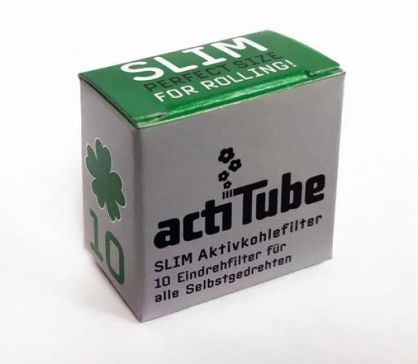 Actitube Aktivkohlefilter Slim – 7mm (10 Stk.)