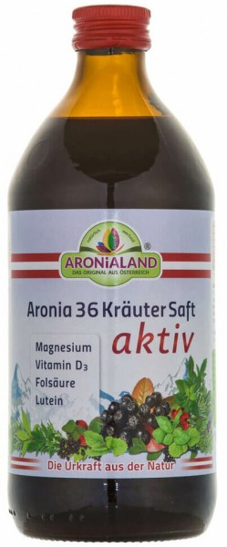 Bio Aronia Kräutersaft AKTIV - 500ml