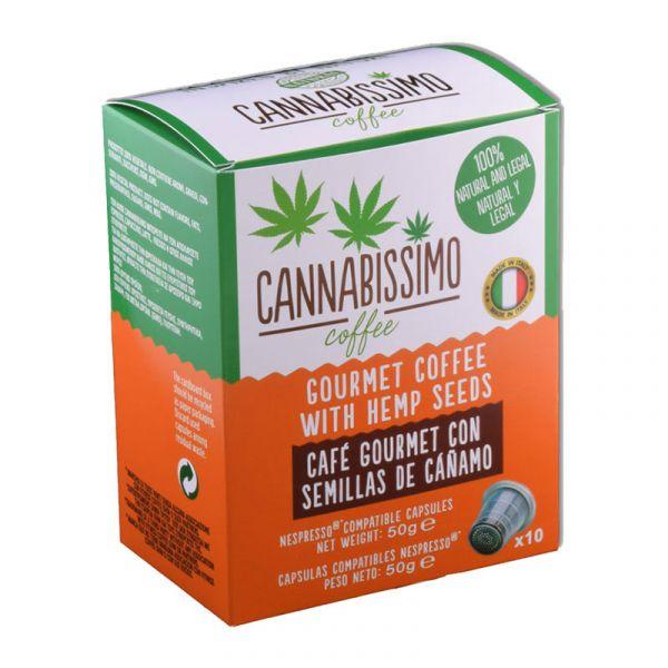 MHD 03.2020 Cannabissimo Hanfkaffeekapseln (10 Stk.)