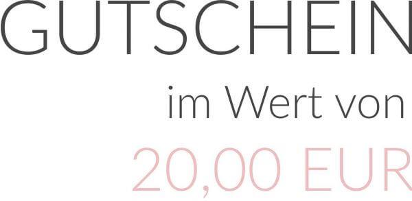 GUTSCHEIN im Wert von 20,00 EUR als PDF