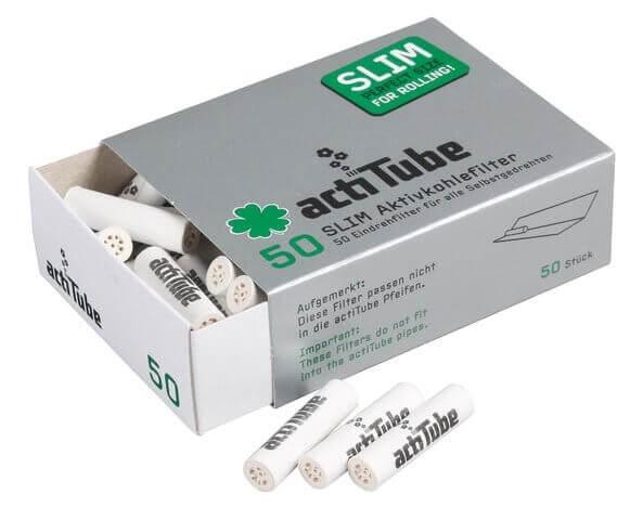 Actitube Aktivkohlefilter Slim – 7 mm (50 Stk.)