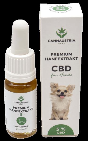 CannAustria Premium Hanfextrakt für Hunde 5 %