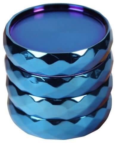 """Grinder """"Crystal Blue"""" Zinc 4-tlg."""