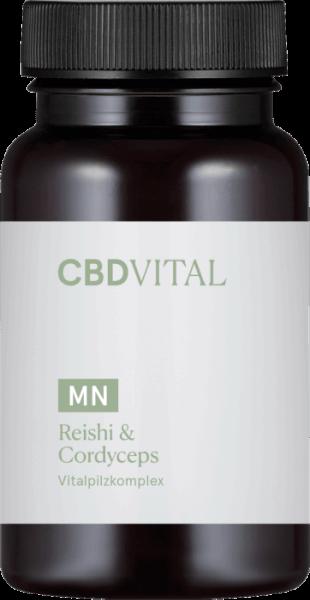CBD-Vital Reishi & Cordyceps (60 Kapseln)